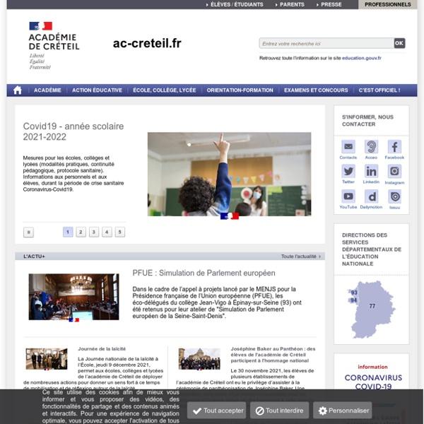 Académie de Créteil - Accueil