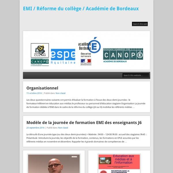 Un site utilisant Blogpeda – Académie de Bordeaux
