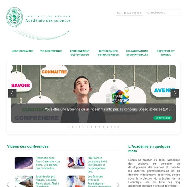 Académie des sciences - Accueil