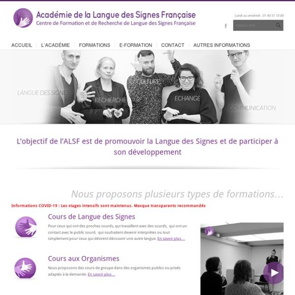 A pleines mains. Site académie de la langue des signes française