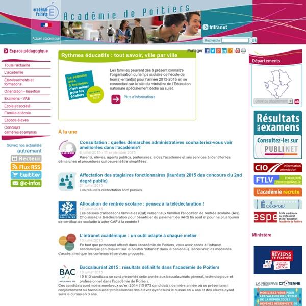 Académie de Poitiers - Infos