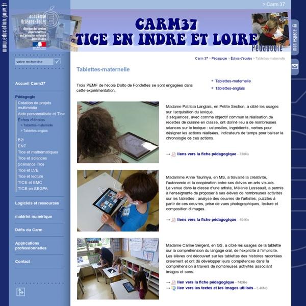 Tablettes-maternelle - Académie d'Orléans-Tours
