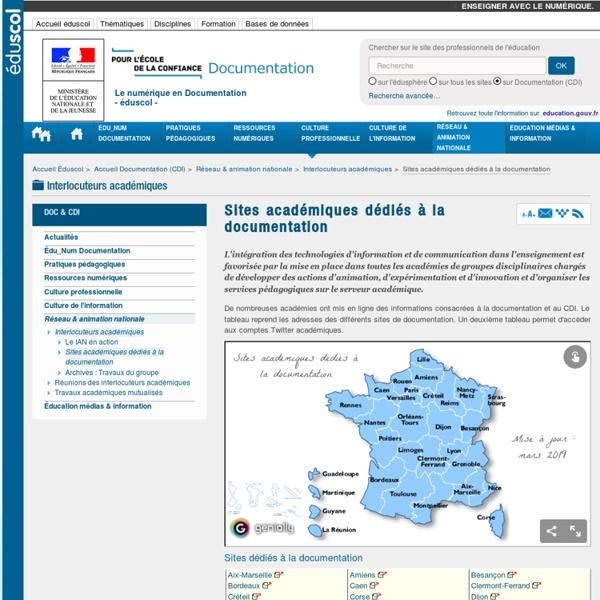 Sites académiques dédiés à la documentation