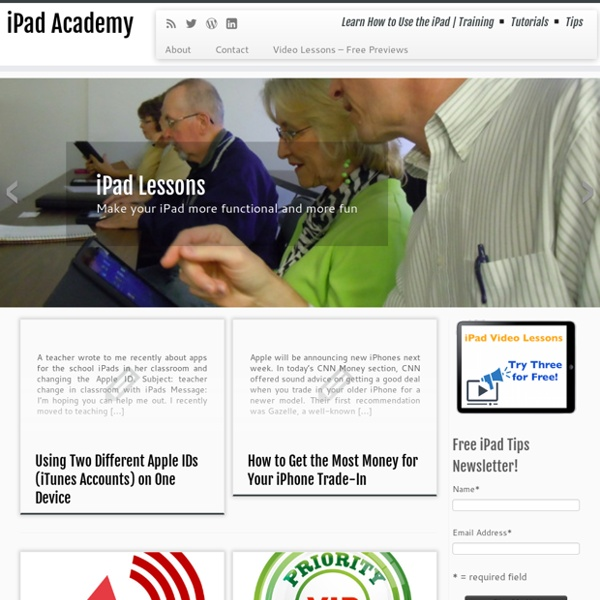 iPad Academy - Learn How to Use the iPad