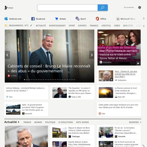 Fr - Actualités, magazines people & féminin, Outlook et Hotmail