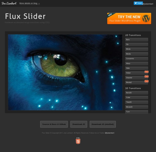 Flux Slider » Hardware accelerated image transitions using CSS3