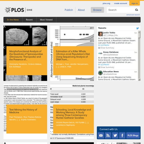 PLoS ONE : accelerating the publication of peer-reviewed science