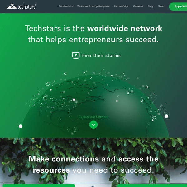 TechStars » Seed capital and mentorship for startups