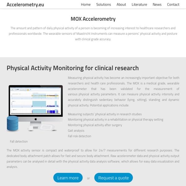 Accelerometry.eu: Accelerometry