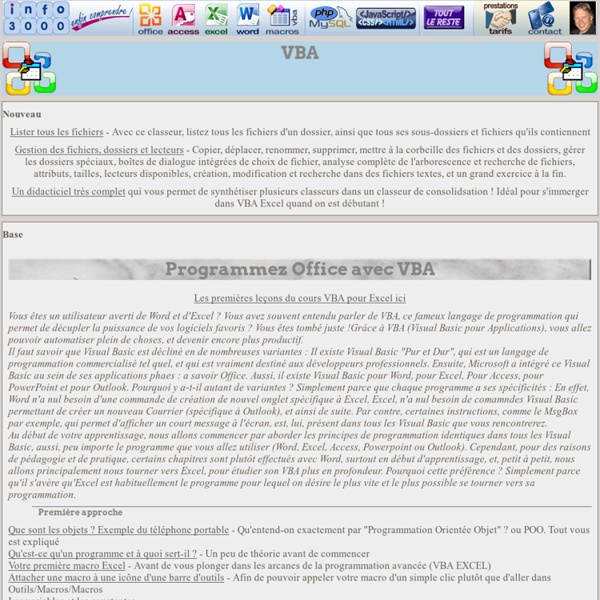 Programmez Office en VBA