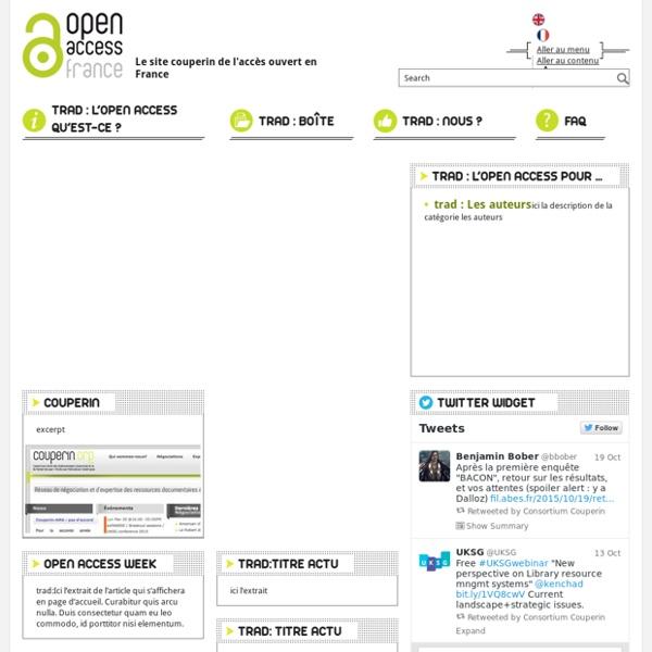 Open Access France – Le site couperin de l'accès ouvert en France