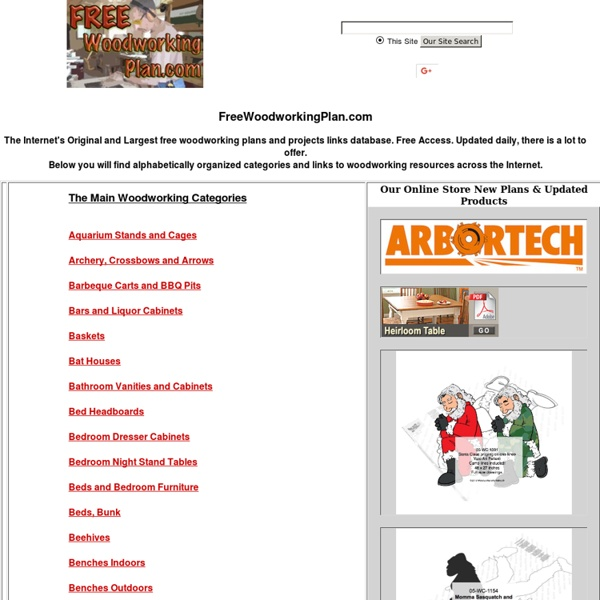 9,932 Free Woodworking Plans, Free Wood working Projects & Scrollsaw Patterns