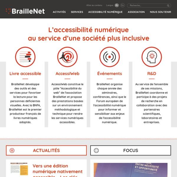 BrailleNet page d'accueil