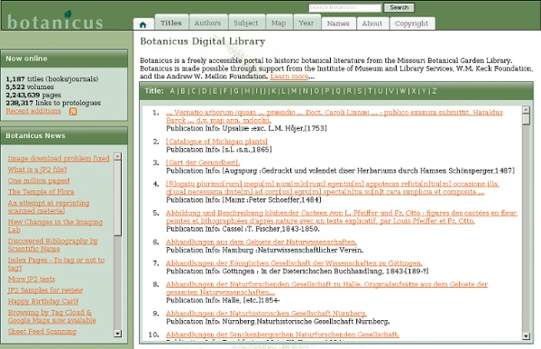 Botanicus: Library Of Historic Botanical Literature