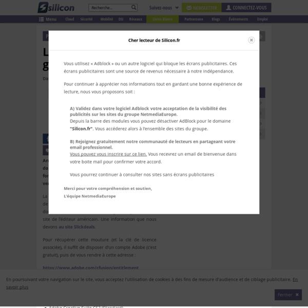 L'Adobe Creative Suite 2 accessible gratuitement en ligne !