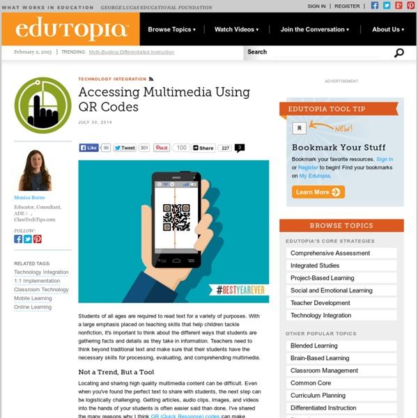 Accessing Multimedia Using QR Codes