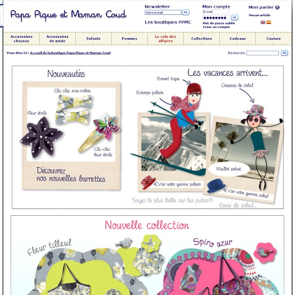 Accessoires cheveux et de mode pour femmes et enfants – Papa Pique et Maman Coud