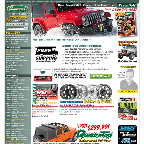 Jeep Parts, Jeep Accessories & Jeep Wrangler Parts From The Jeep Parts Experts - Quadratec