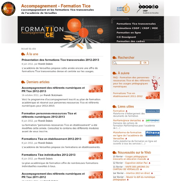 Accompagnement - Formation Tice
