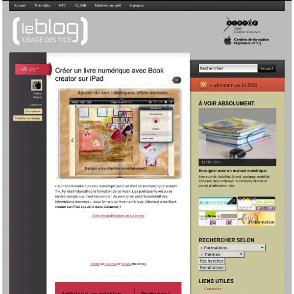 Créer un livre numérique avec Book creator sur iPad