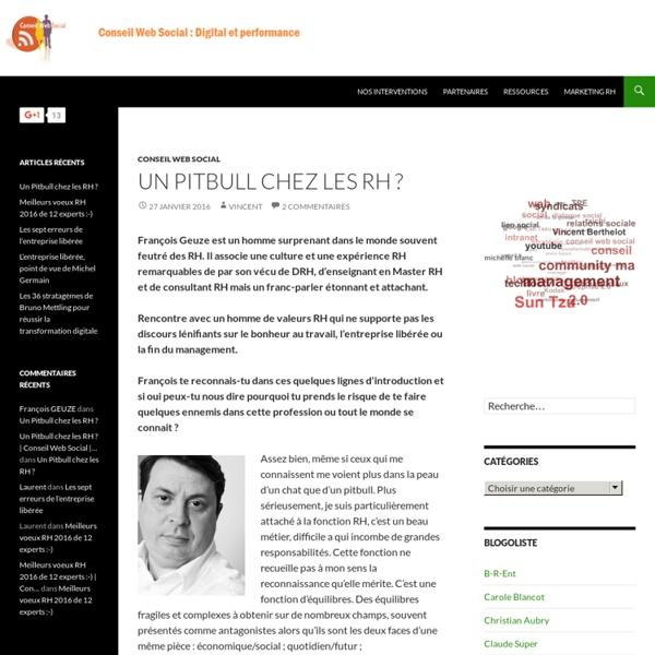 Accompagnement stratégique RH 2.0 et gestion des médias sociaux