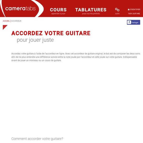 Accorder une guitare avec un accordeur en ligne