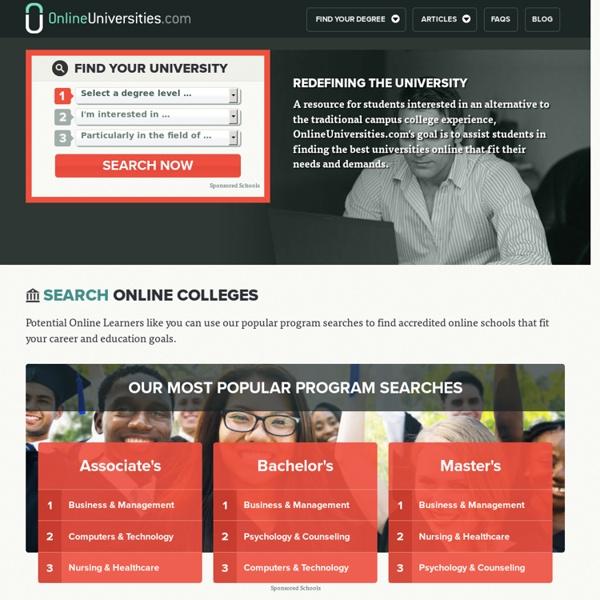 Online Universities: Compare 2014's Best Universities
