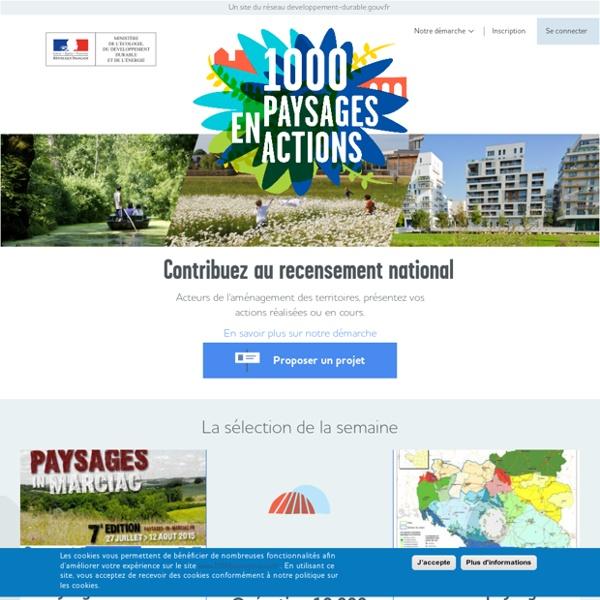 Accueil - 1000 paysages en actions