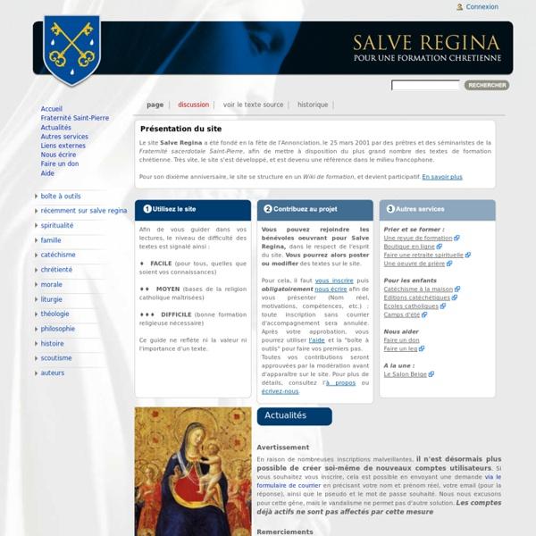 Textes doctrinaux Salve Regina