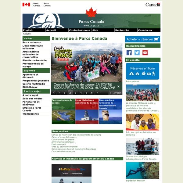 Bienvenue à l'agence Parcs Canada