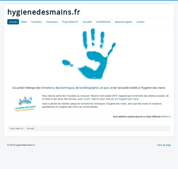 Hygienedesmains.fr- Portail consacré à l' hygiène des mains