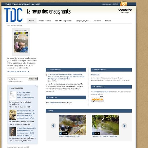 TDC: la revue des enseignants