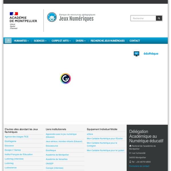 Jeux Numériques - Académie de Montpellier