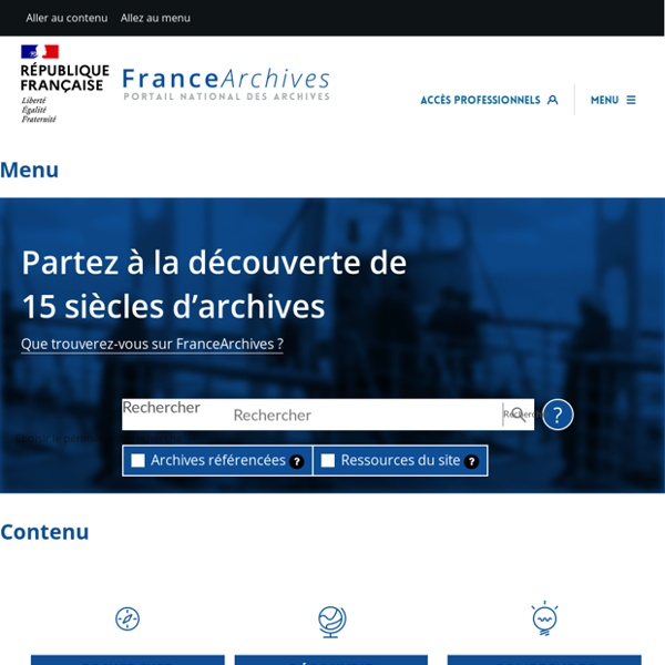 Accueil (FranceArchives)