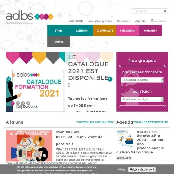Accueil - L'association des professionnels de l'information et de la documentation