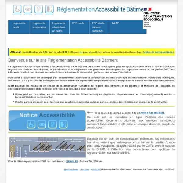 Accessibilité bâtiment - Accueil