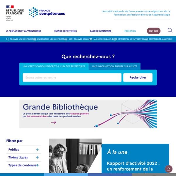 Accueil - France compétences