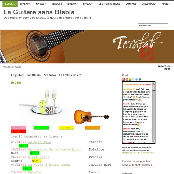 La guitare sans Blabla