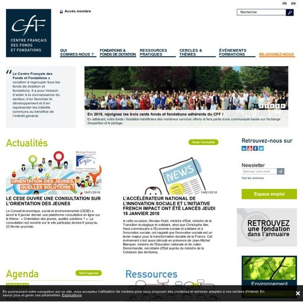 Accueil — CFF : Centre Français des Fonds et Fondations