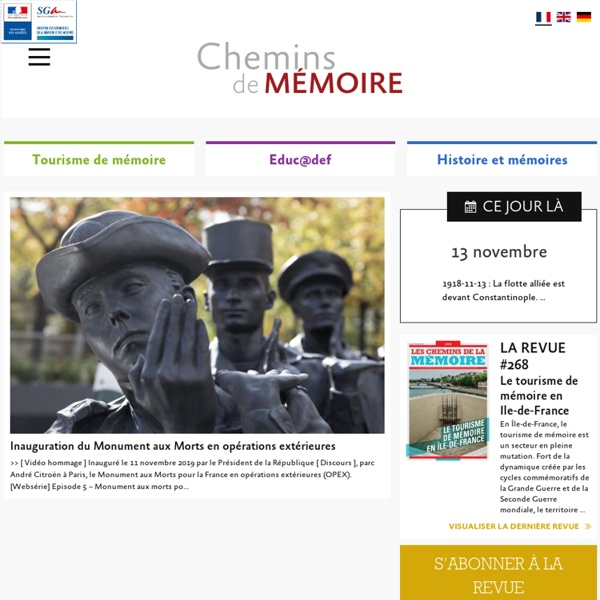 Chemins de Mémoire - Ministère des Armées