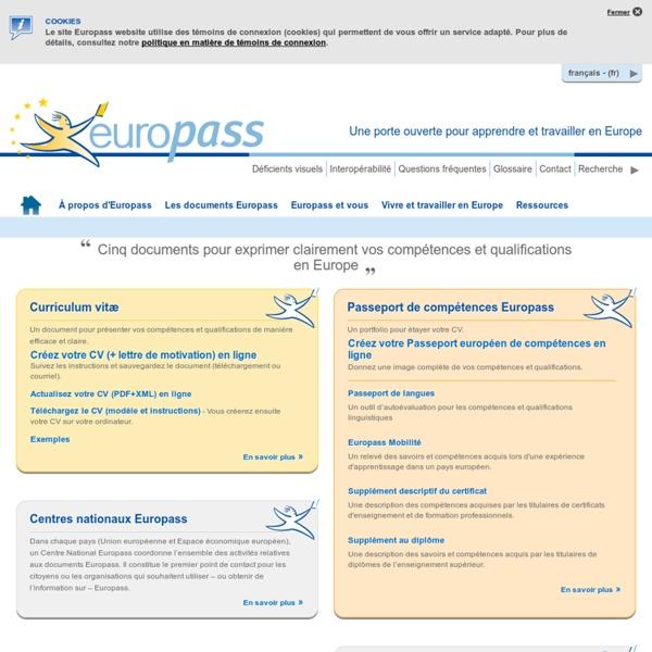 Ss: Accueil Europass