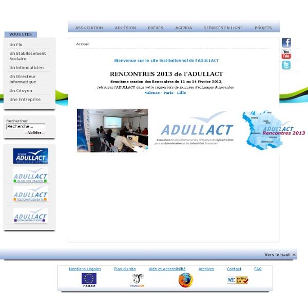 ADULLACT - Mutualisation de logiciels libres pour institutionnel