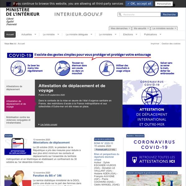 Accueil - Ministère de l'Intérieur
