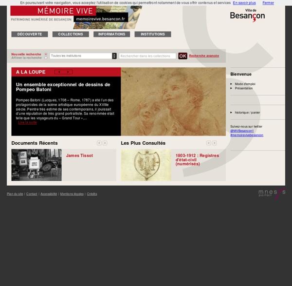 Patrimoine numérisé de Besançon - Accueil