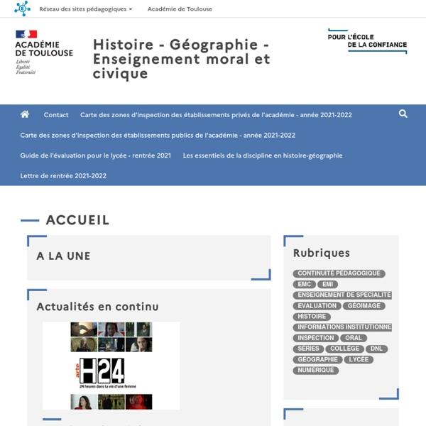 Histoire, Géographie,EMC académie de Toulouse