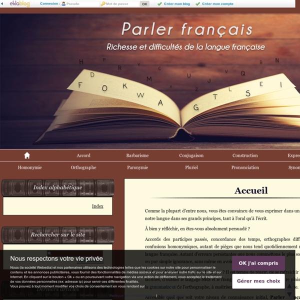 Accueil - PARLER FRANCAIS