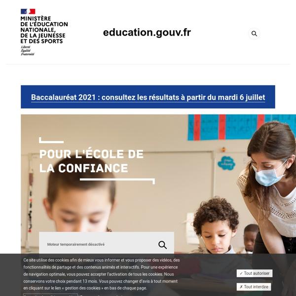 Accueil - Ministère de l'éducation nationale