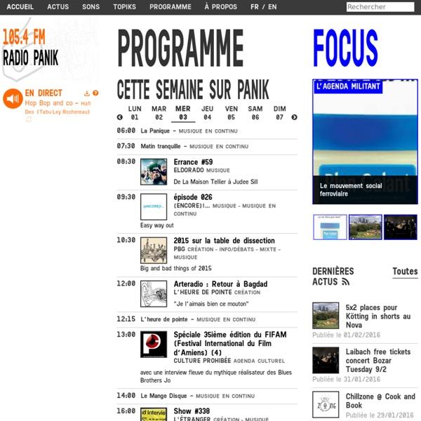 Radio Panik - Accueil