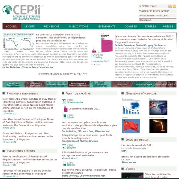 CEPII - Accueil