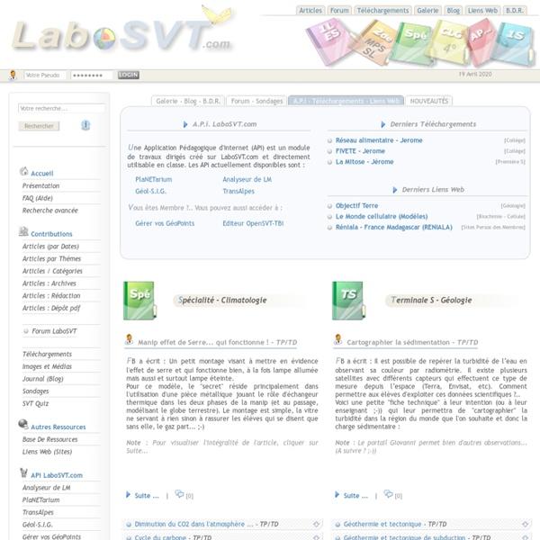 SVT - LaboSVT.com - Accueil